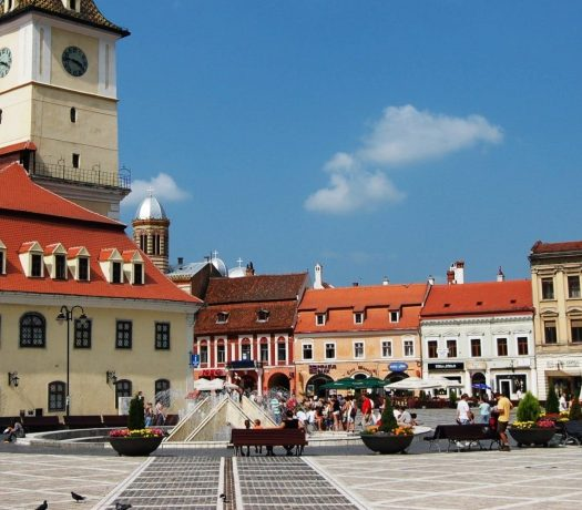 Place centrale Brasov Roumanie