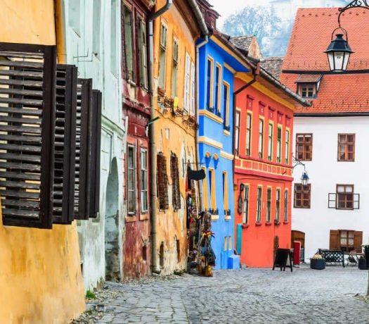 Rue à Sighisoara Roumanie