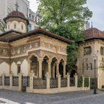L'église Stavropoleos, Bucarest, Roumanie